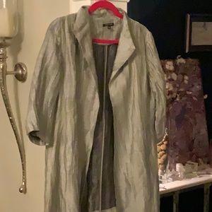 eileen fisher silver jacket